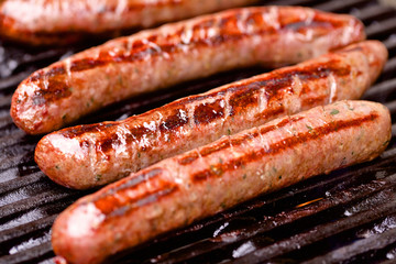 Barbecued pork sausages