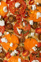 tomatoes tart with cottage cheese