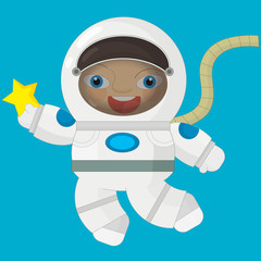 Cartoon character - astronaut