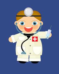 Cartoon character - doctor