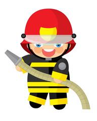 Cartoon character - fireman