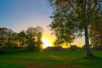 Sunset in Kernave.