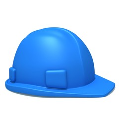Construction helmet 3d illustration