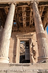 Close view from the Partenon in Athens