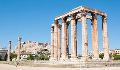 The Temple of Olympian Zeus and the Acropolis, Athens