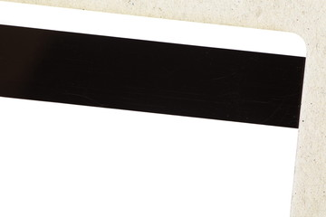 the magnetic strip on reverse side of a credit card