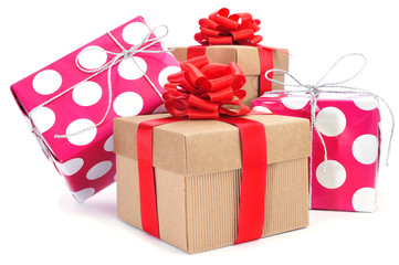 gift boxes of different colors