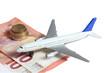 canvas print picture - Flugzeug Geld