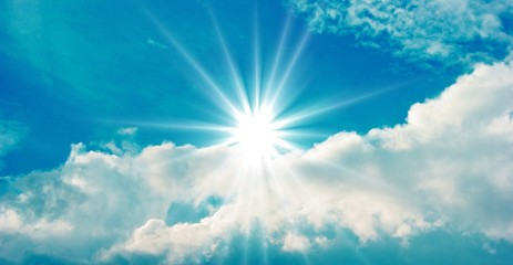 Himmel mit Sonne