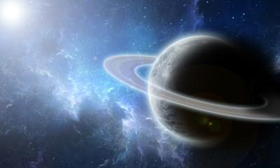 Planeta y galaxia