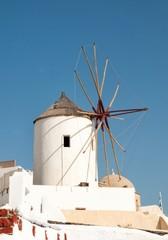 Windmill in Oia, Santorini, Cycladic islands