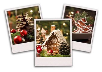 Christmas postcard collage