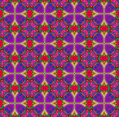 violet -red ethnic patterns
