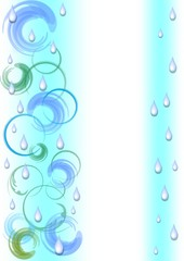Abstract background with swirl and pure water drops