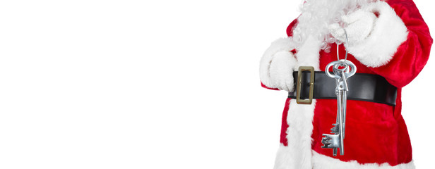 Santa Claus with home key