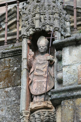 Statue at famous Braga Cathedral