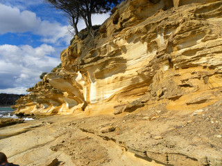 Painted Cliffs Marie Island Tasmania Australia