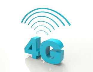 4G-3d word concept