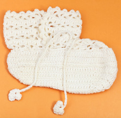 textile baby's booties