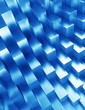 Abstract geometric shape from blue cubes