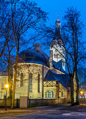 Lutheran church in Dubulti, Jurmala resort, Latvia