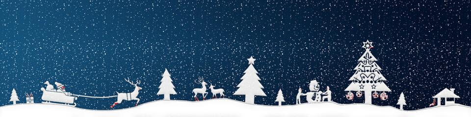 cb23 ChristmasBanner - Schnee ohne Text - blau 4zu1 - g2671