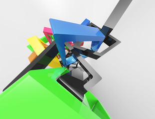 Modern geometrical abstract 3d template