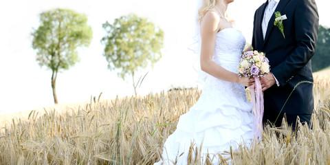 Brautpaar im Kornnfeld