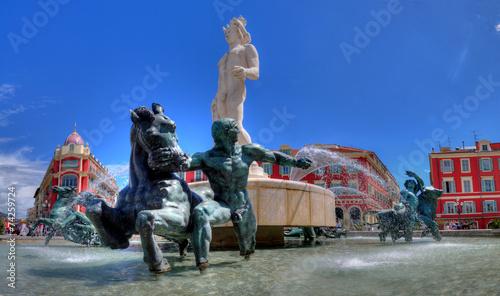 nice fontaine place masséna - 74259724