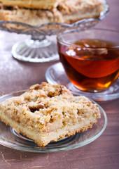 Apple, nut crumble slice