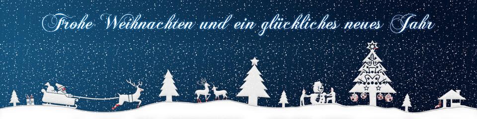 cb25 ChristmasBanner - Schnee - deutsch mit text - 4zu1 - g2672