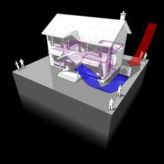 air-source heat pump diagram