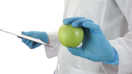 Doctor Giving an Apple