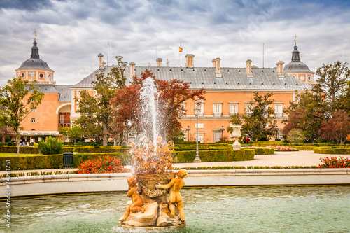 Ornamental fountains of the Palace of Aranjuez, Madrid, Spain. - 74261751