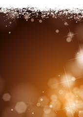 fond flocons de neige paillettes doré foncé kazy