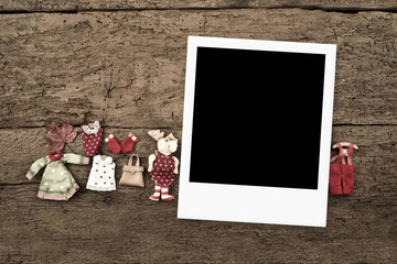 Christmas with three frames for photos