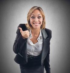 Positive businesswoman