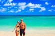Loving couple on beach