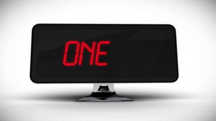 Countdown to 2015 on computer screen