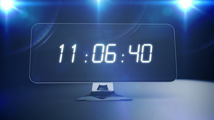 Countdown to 0 on computer screen