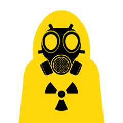 gas mask Yellow suit cover
