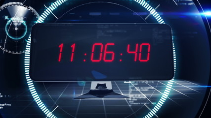 Countdown to 2015 on computer screen in tech style