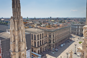 Aerial view of Milano