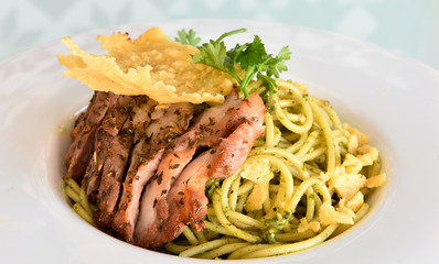 Spaghetti with Roast Pork