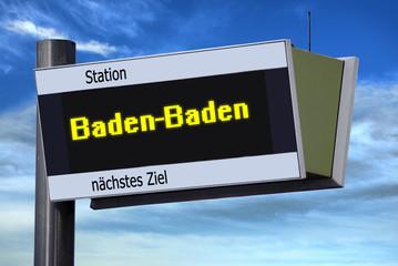 Anzeigetafel 6 - Baden-Baden