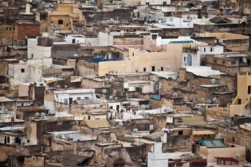 Aerial view of Fes
