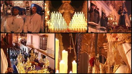 Spanish holy week, collage