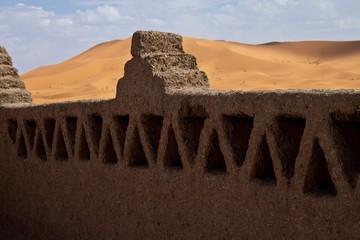Adobe wall of a kasbah