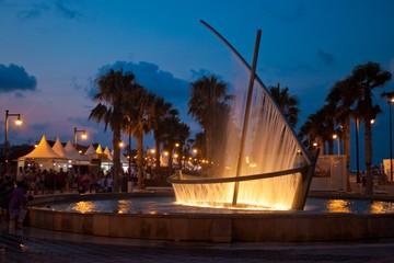 Ship shaped fountain in Valencia