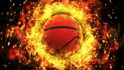 Fiery Basket Ball